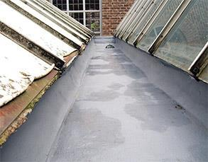 Gutter coated with Belzona 3111 (Flexible Membrane)