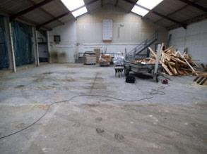 Disused dairy warehouse prior to refurbishment