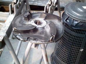 Severely damaged impeller