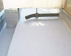 Roof protected using a seamless layer of Belzona 3111 (Flexible Membrane)