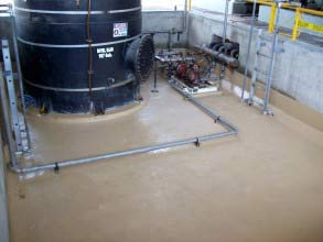 Secondary containment area protected against deterioration using Belzona 5811 (Immersion Grade)